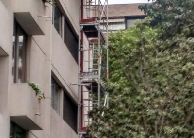 Reparación para calefacción en edificio antiguo